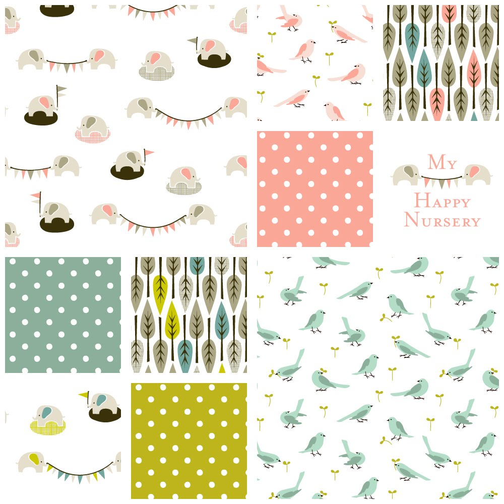 My happy nursery archives cloud9 fabrics for Nursery fabric