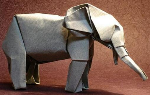 how to make an origami elephant easy
