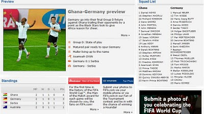 GHANA VS GERMANY
