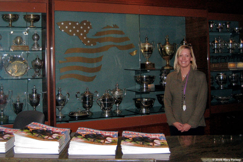 National Museum of Racing and Hall of Fame welcome desk