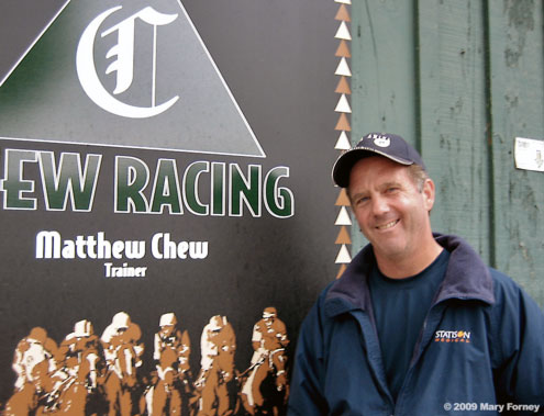 Matt Chew, Throughbred Trainer