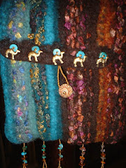 Felted with beads