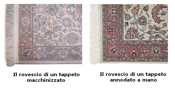 Riconoscere un tappeto annodato a mano da uno fatto a - Tappeti fatti a mano ...