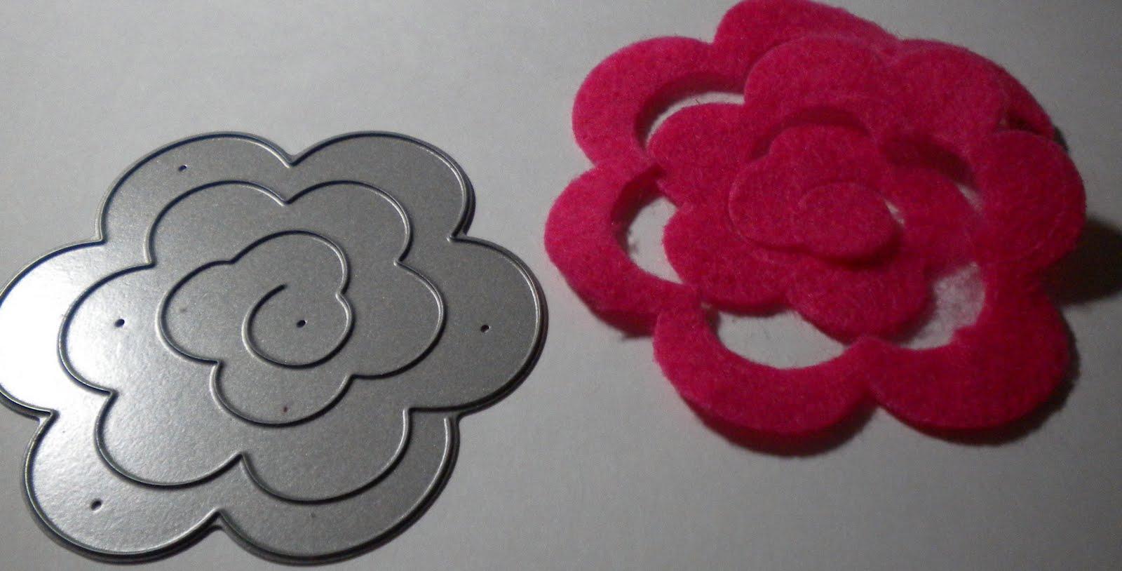 Rolled Felt Flower Template Felt flowers