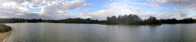 Panorama of Jells Park lake