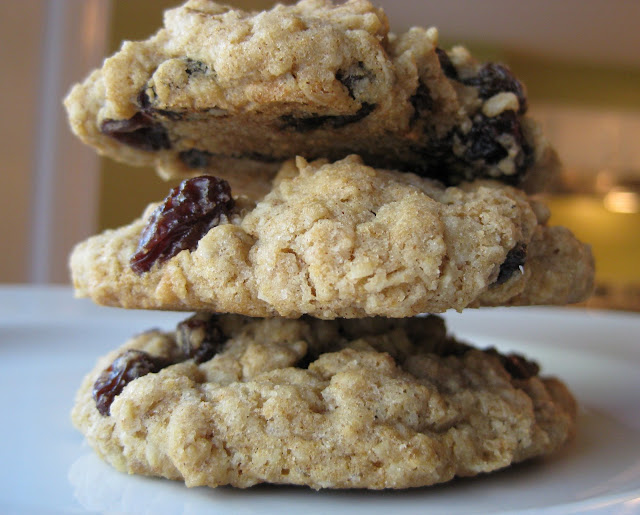 Chewy Oatmeal Raisin Cookies | A Hint of Honey