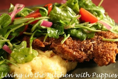 in the Kitchen with Puppies: Veal Chop Milanese with Arugula Salad ...