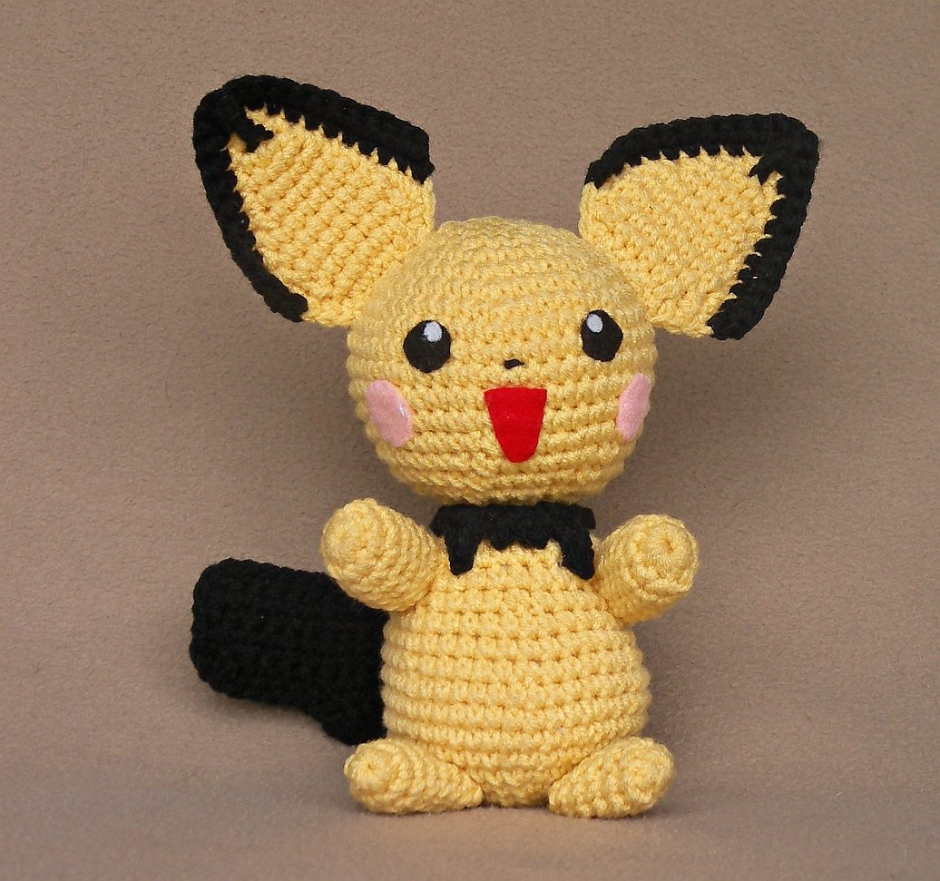 Crochet Patterns Pokemon : 2000 Free Amigurumi Patterns: Pichu crochet pattern