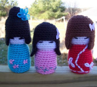 Amigurumi Rose Pattern Free : 2000 Free Amigurumi Patterns: Kokeshi Dolls