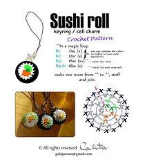 Amigurumi Sushi Pattern : 2000 Free Amigurumi Patterns: Sushi Roll