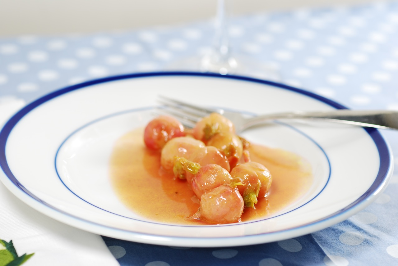 Rosy radishes, braised with chicken stock and butter, are a favorite ...