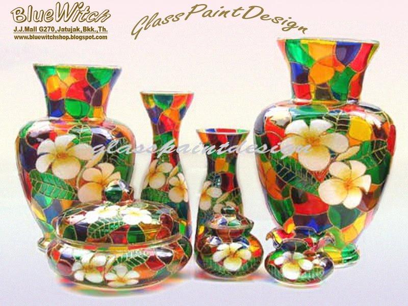 Blue Witch Handicraft Glass Paint Design