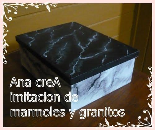 Ana crea imitacion de marmoles y granitos trabajo final for Clases de marmoles y granitos
