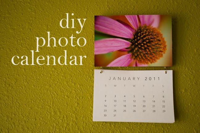 Diy Photo Calendar : Paper lust diy photo calendar
