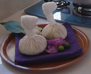 herbal balls in Aston Legend villa hotel, Sanur Bali