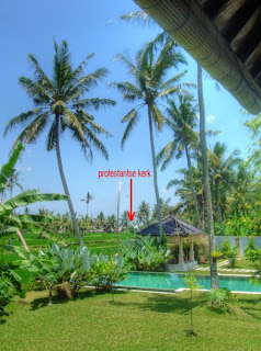 Protestant church seen from Villa Sabandari, a small hotel in Ubud Bali