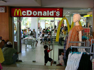 Far from Ubud and the rice field, the luxury of a Mac D in Denpasar