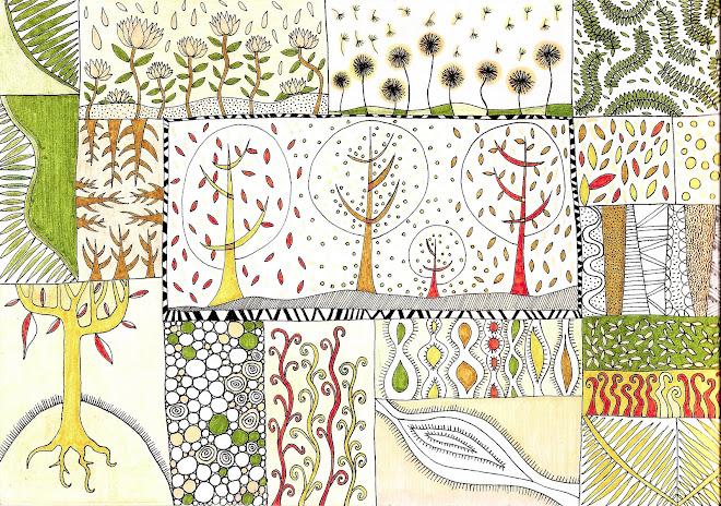 dibujo estilo patchwork