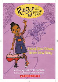 Ruby and The Booker Boys By Derrick Barnes illustrated by Vanessa Brantley -Newton