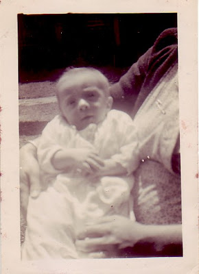 Barry in the arms of his maternal grandmother (1945)