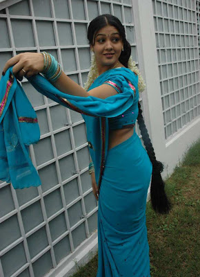 tollywood jyothi krishna in blue saree hot images