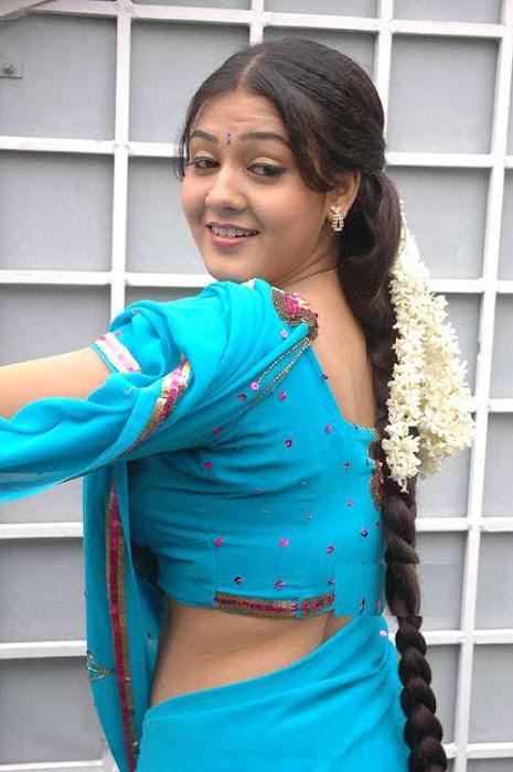 tollywood jyothi krishna in blue saree actress pics