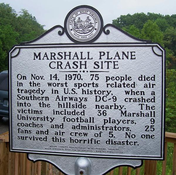 marshall plane crash Tragedy of marshall university crash remembered on anniversary  plane crash  near a mountaintop a few miles from huntington, w va, where.