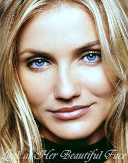 Cameron Diaz Beautiful Face With Sparkling Blue Eyes