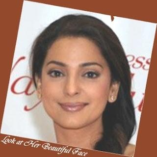 Juhi Chawla Face Shape