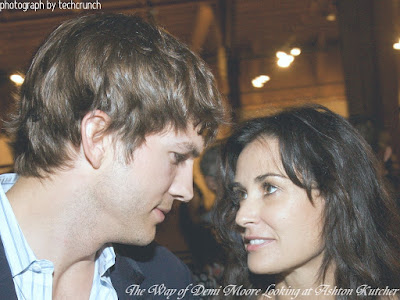 The Way of Demi Moore Looking at Ashton Kutcher