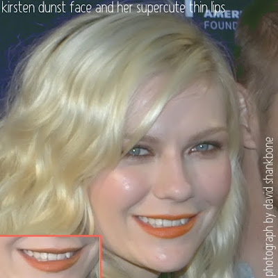 Kirsten Dunst Face And Her Supercute Thin Lips