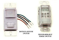 Timer and motion sensor switches