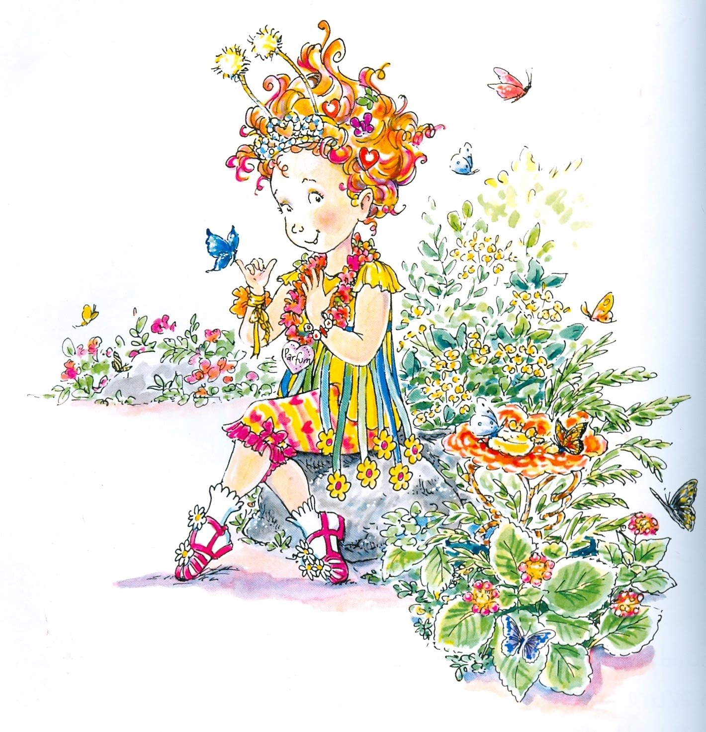 This is an image of Influential Fancy Nancy Clipart