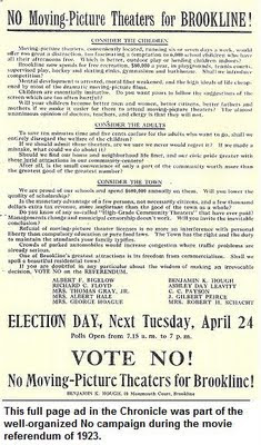 Illustration: Anti-movie advertisement from the 1923 referendum