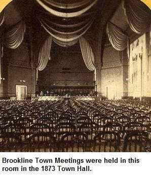 Interior of 1873 Town Hall