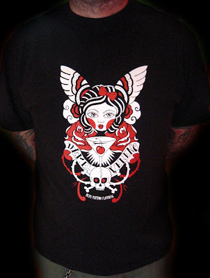 This shrit is designed by Marzia Tattoo for Pupa Tattoo Clothing.