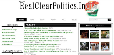 Real Clear Politics India Screenshot