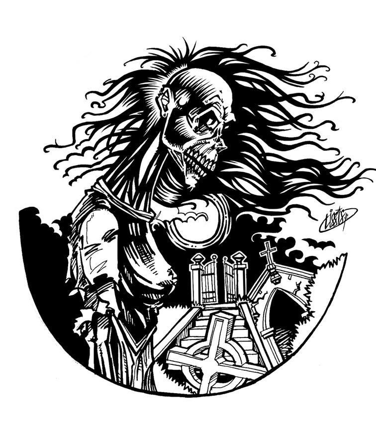 desenho e quadrinhos cemiterio