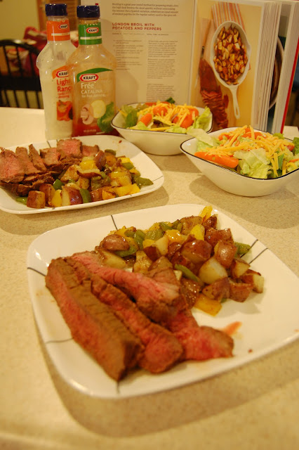 Everyday Food Challenge: London Broil with potatoes and peppers