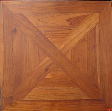 TEAK MOSAIC TILE - 70 cm x 70 cm