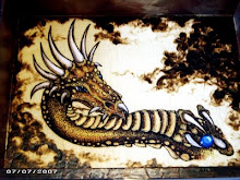 Creeper Dragon pyrograph