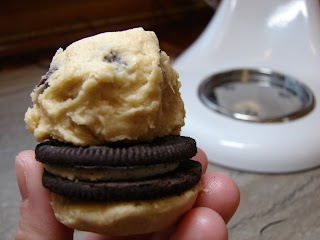 Chocolate Chip Oreo Cookie Sandwich Cookies @KatrinasKitchen