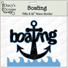 """Boating Title & 12"""" Wave Border"""