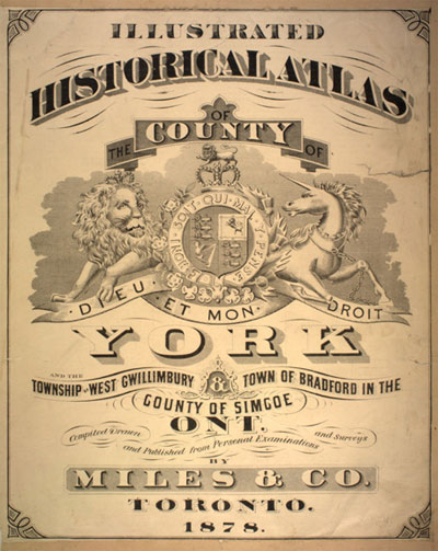 York County Historical Atlas Cover 1878