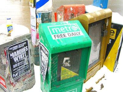 Toronto Metro News Box