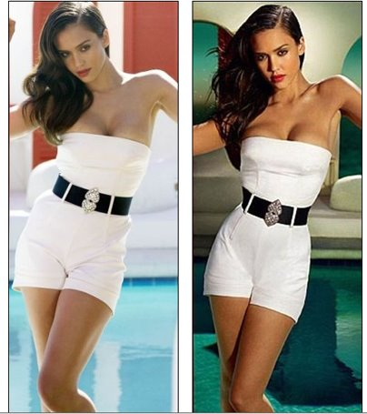 Jessica Alba Photoshopped Thin