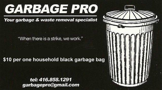 Garbage Pro Toronto Strike
