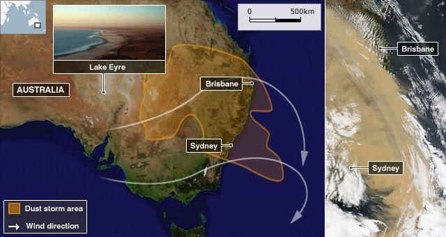 Australia Dust Storm Satellite Image