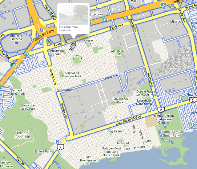 Google Street View Toronto Missing Areas
