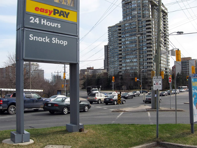 Toronto Shell Gas Station Islington and Dundas 2009